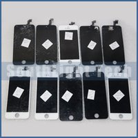Wholesale Cracking Bar - Attention ! 100% Outstanding With Warranty LCD Screen Refurbish Service For Apple iphone 5 5c 5s Cracked Broken LCD Digitizer Repair Service
