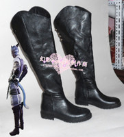 Wholesale Male Fantasies - Wholesale-Final Fantasy 14 Miqo'te male ver cosplay shoes boots shoe boot #HY062 Halloween