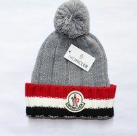 Wholesale Wool Hat Wholesale - New Mon Brand Unisex Winter Wool Hats Men and Women Knitting Beanie Warm Caps Couple Touca Gorro Bonnet Skull Caps with Fuzzy Ball 5 colors