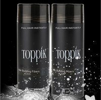 Wholesale Toppik Wholesale Fibers - natural TOPPIK keratin hair building fibers 27.5g hair loss concealer 9 colors hair fiber powder