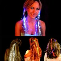 Nouveau 2017 Flash LED Hair Women Girl Braid Clip Hairpin Decor pour Party Dance Gift 1PC Light-Up Toys