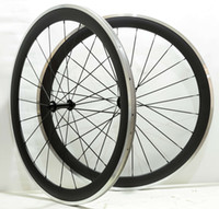 Wholesale Alloy Bicycle Wheel - Free shipping 700C 50mm depth 25 mm width alloy brake surface carbon wheels clincher road bicycle wheelset with Powerway R13 hub.