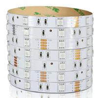ingrosso striscia di ambra gialla-12V / 24V 120 leds / M ad alta luminosità SMD5050 LED strip light tape flessibile 5 metri 10800-12000LM bianco   PCB giallo con prezzo di buona qualità