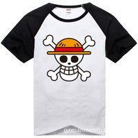 Wholesale One Piece Luffy Shirt - One Piece T shirt 2017 Fashion Japanese Anime Clothing Back Color Luffy Cotton T-shirt For Man And Women,Brand Camiseta,TH001