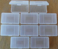 Wholesale Gba Advance Games - Clear protective game cartridge case for Gameboy Advanced GBA transparent gamecard box
