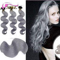 Ombre Hair Extensions 1B Silver Grey Hair Weave Virgin Brazilian Body Wave Colored Cheveux Ombre humaine Hair Weave