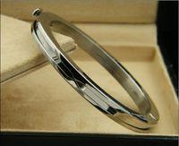 edelstahl armbänder gemischt großhandel-Neue Luxus Concave Gear Edelstahl Armreifen Armbänder, Mixed Gelb Gold / Rose Gold / Silber Metall Farben Frauen Größe Schmuck - 5 Farben