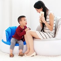 Wholesale Inflatable Chairs For Children - Hot Selling Home Furniture Inflatable Sofa Adult Children Air Seat Chair Lazy Reading Relaxing Bean Bag for Living Room JF0065
