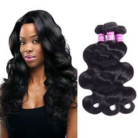 Wholesale black hair weave hairstyles for sale - Ushine Brazilian Peruvian Virgin Hair Straight Body Water Wave Human Hair Extensions Can Make All Kinds Of Hairstyles You Want
