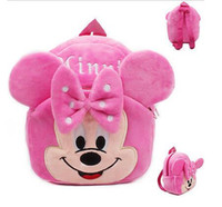 Wholesale Baby Leopard Plush - Fashion Kids Baby Girl Cartoon Shoulder Bag Pink Plush Backpack Toddler Schoolbag Satchel