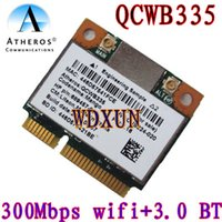 Wholesale Pcie Wireless Cards - Wholesale- Atheros Qcwb335 Qca9565 Wifi Wireless Bluetooth Bt 4.0 Card 150mbps 689457-001 Internal Pci-e mini pcie 802.11n For Laptop