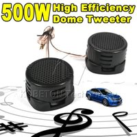 Wholesale Hifi Tweeter - Wholesale- 1 Pair Universal High Efficiency 2x 500W Car Mini Dome Tweeter Loudspeaker Loud Speaker Super Power Audio Auto Sound Klaxon Tone
