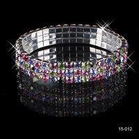 Wholesale Silver Rhinestone Cuff Bracelet - Free Shipping 2014 Amazing New without tags Silver plated Rhinestones Diamond Designer Evening Bangles Bridal Accessory Jewelry 15-012