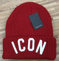 Wholesale Pink Ski Hats - Hot sale Unisex embroidery ICON winter men beanies brand outdoor hat warm knitted warm hat women sports caps factory price wholesale