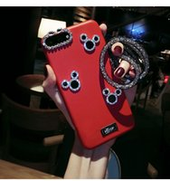Wholesale Mobile Cover Cute - Cute Mickey Rhinestone Phone Case TPU back cover for Apple Iphone 6S 6 7 plus Fashion case Bling Mobile Phone Case Shell