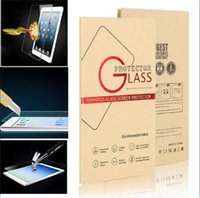ipad pro kutusu toptan satış-Ipad için pro mini 3 4 9 H 0.4 MM Temperli Cam Ekran Koruyucu Film patlamaya dayanıklı Ekran Guard ile kutuları için ipad 2 3 4 5 hava pro 12.9 '