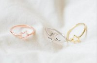 Wholesale Mini Cluster - 18K Gold Silver Rose Mini Star Knuckling Ring-Wedding Ring Bridesmaid Gift