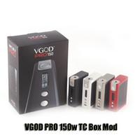Wholesale Originals Pro - 100% Original VGOD Pro 150 Box Mod VW TC 150W Dual 18650 Battery Mod For 510 Thread Atomizer