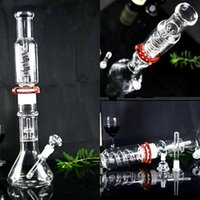Wholesale parts cleaning - Real picture sturdy glass bongs thickness 18.8mm joint Detachable parts Hookahs easy to clean Bowl oil rigs Smoking Pipes 42 cm Tall