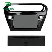 dvd oynatıcı araba uzaktan kumanda toptan satış-8 inç Dört Çekirdekli 1024 * 600 Ekran Android 5.1 Araba DVD GPS Navigasyon Oynatıcı Peugeot 301 Radyo 3G için direksiyon kontrolü Uzaktan