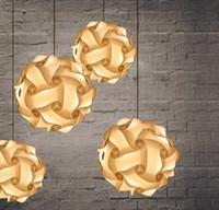 luces del rompecabezas iq al por mayor-DIY Modern Pendant Ball Novela IQ Lámpara Jigsaw Puzzle Colgantes coloridas luces colgantes LED DIY Lámpara de techo de la lámpara ajustable