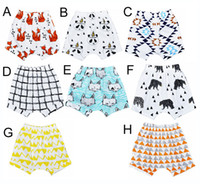 Wholesale Bloomers Patterns - 8 Design INS Baby Shorts For Summer Toddler Girls Boys Bloomers Animal panda fox geometric figure Pattern Children Shorts hight quality