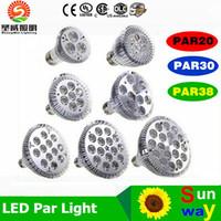 b22 e17 al por mayor-Regulable LED bombilla PAR38 PAR30 PAR20 9W 10W 14W 18W 24W 30W E27 par 20 30 38 LED iluminación del punto de la lámpara downlight de la luz