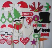 masque lèvres moustache bâton achat en gros de-Moustache Lip Hold Stick Fête D'anniversaire De Mariage Masques Bricolage Fun Faveur Cadeau Bâton Fête De Noël