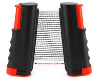 juegos al por mayor-Nets de mesa Nets Posts Lo nuevo tenis de mesa retráctil Ping Pong Juegos Portable Net Kit Reemplazo negro de calidad superior 1BZ