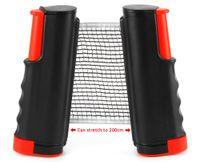 Wholesale Table Tennis Posts - Table Tennis Nets Posts Newest Retractable Table Tennis Ping Pong Games Portable Net Kit Replacement Black Top Quality 1BZ