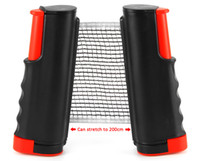 einziehbares kit großhandel-Tischtennis-Netz-Pfosten-neueste einziehbare Tischtennis-Ping-Pong-Spiele bewegliches Netz-Installationssatz-Schwarz-Spitzenqualität 1BZ