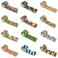Wholesale Elastic Gun - 5CMx4.5M Camouflage Tape Reusable Hunting Camping Cycling Wrap Elastic Tactical Stealth Gun Tape Outdoor