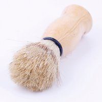 Wood Shaving Brush  Wholesale-2016 New Arrivlal Shaving Brush Perfect Shave Barber Hard Wood Handle Badger Hair Salon Tool Free Shipping