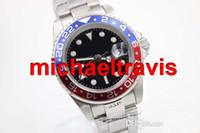 Wholesale Wrist Watches Red Belt - Luxury Brand New Blue And Red Dezel Black Belt Mens Stainless Pointer Watch Men's Sports Wrist Sapphire men watch