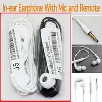 Wholesale earphones s4 - Headphones In-Ear Earphone with Mic and Remote Stereo 3.5mm Headset for Samsung Galaxy S7 S6 S5 S4
