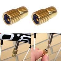 Wholesale presta valve pump - Bicycle Bike Presta Valve To Schrader Adaptor Bike Pump Type Inner Valve Tube valve converter with rubber ring washers
