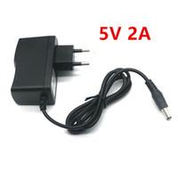 Wholesale dc 5v 2a power supply - 5V 2A New AC 100V-240V Converter Adapter DC 5V 2A 2000mA Power Supply DC 5.5mm x 2.1mm