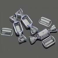 Wholesale Plastic Storage Beads - New Arrival 30pcs Lots Clear Candy Display Beads Storage Favors Plastic Case Boxes free Ship [JA05004*30]