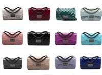 Wholesale Blue Shiny Bags - NEWEST HANDBAG!!!shiny bags handbag women famous brands designer brand bags women PVC environmental chain handbags women purses and handbags