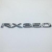 RX350 3D Letters Chrome Silver Sticker Car Refitting Logo para Lexus RX350 Rear Trunk Emblem Decoration