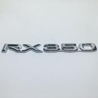 Wholesale lexus car emblem - RX350 3D Letters Chrome Silver Sticker Car Refitting Logo For Lexus RX350 Rear Trunk Emblem Decoration