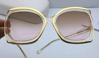 Wholesale Pink Sheets Full - New fashion fashion designer glasses sheet metal combination hollow frame popular round eyewear top quality uv protection lens 142