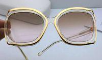Wholesale Yellow Sheet Metal - New fashion fashion designer glasses sheet metal combination hollow frame popular round eyewear top quality uv protection lens 142