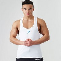 Wholesale Men Lycra Tank - Wholesale-Golds Gym Stringer Tank Top Men Bodybuilding Clothing and Fitness Mens Sleeveless Shirt Sports Vests LYCRA Singlets Muscle Tops