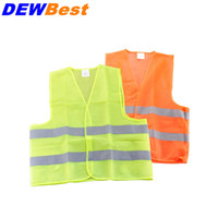 Wholesale Yellow Reflective Vest - High Visibility Working Safety Construction Vest Warning Reflective traffic working Vest yellow green Reflective Safety Clothing