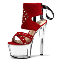 Wholesale 17 Cm Heel - 2016 women in the summer of gladiator peep-toe platform style with 17 cm high-heeled sandals