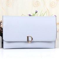 Wholesale Long Ladies Small Shoulder Bag - Preppy Style Cover Clutch Bag Women Leather Handbags High Quality PU Leather Shoulder Bags Long Purse Small Messenger Bag