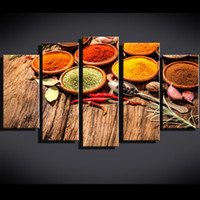 Wholesale Food Canvas Prints - Hd print kitchen food oil painting canvas print room decoration posters printed picture canvas free shipping