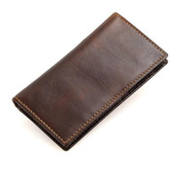 Wholesale Credit Card Security - High Quality Mens Genuine Leather Wallet RFID Blocking Security Slim Bifold Credit Card Holder Free Shipping