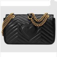 сумка на плечо черного золота оптовых-горячие продать роскошные женщины сумка Классическая кожа черное золото цепи Женщины сумки Сумки на ремне сумки тотализатор сумки посыльного